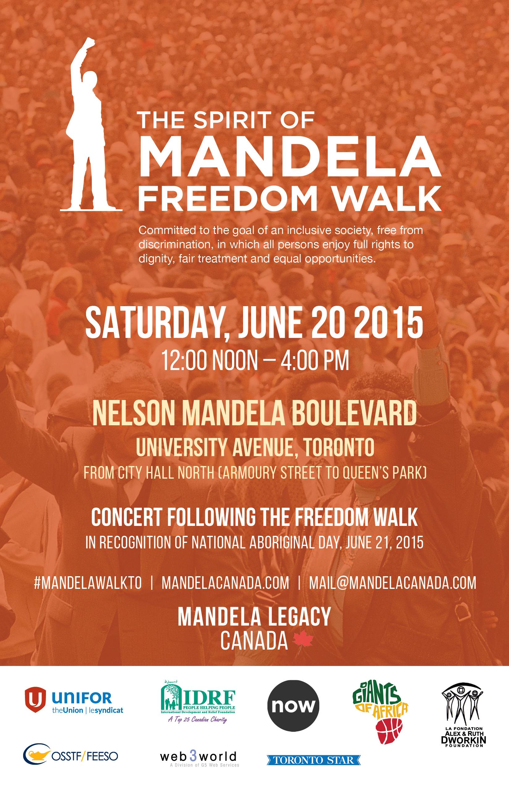 Mandela Freedom Walk Poster2